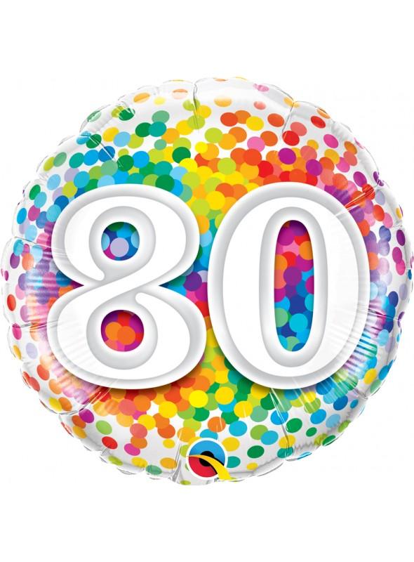 Balão Metalizado Aniversário 80 Anos – 1 unidade
