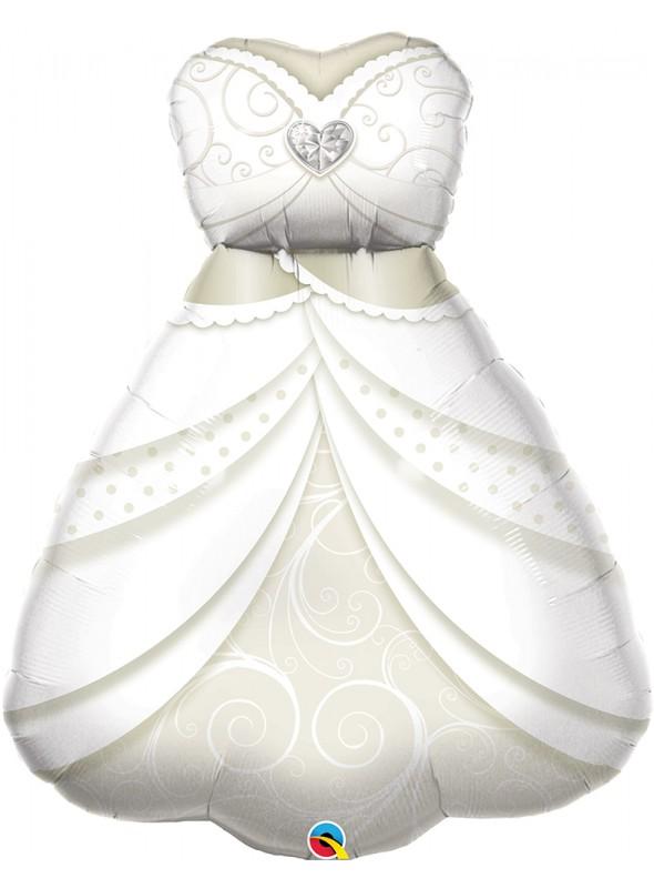 Balão Metalizado Casamento Vestido de Noiva – 1 unidade