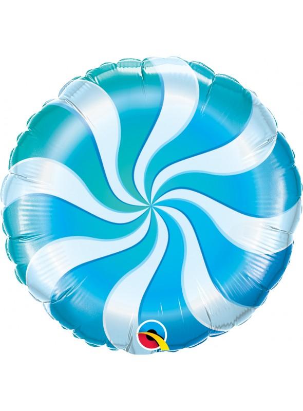 Balão Metalizado Bala Pirulito Azul – 1 unidade