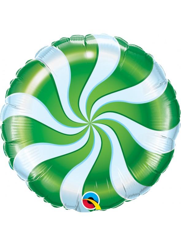 Balão Metalizado Bala Pirulito Verde – 1 unidade
