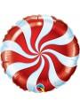 Balão Metalizado Bala Pirulito Vermelho – 1 unidade