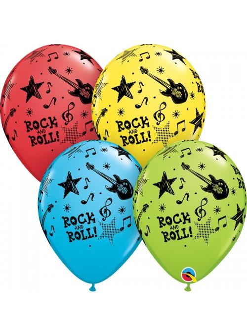 Balões de Látex Rock and Roll – 10 unidades
