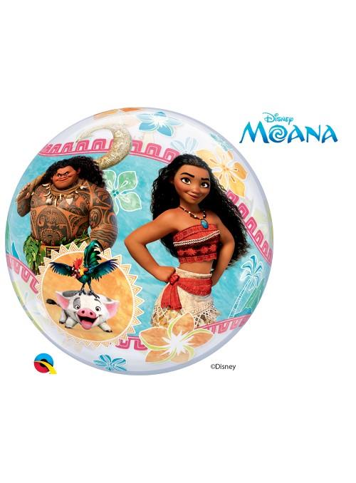 Balão Bubble Transparente Moana – 1 unidade
