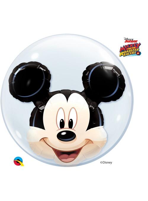 Balão Bubble Duplo Transparente Mickey – 1 unidade