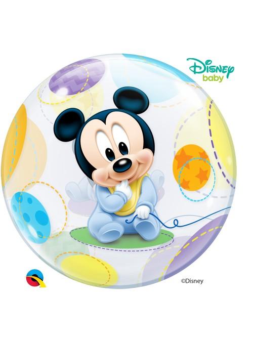 Balão Bubble Transparente Mickey Baby – 1 unidade