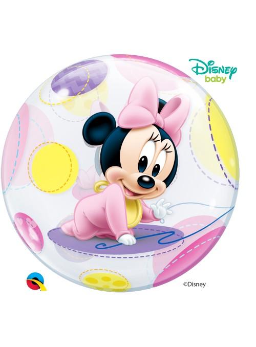 Balão Bubble Transparente Minnie Baby – 1 unidade