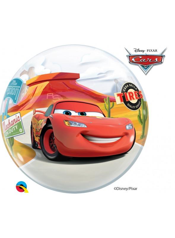 Balão Bubble Transparente Carros Cars – 1 unidade
