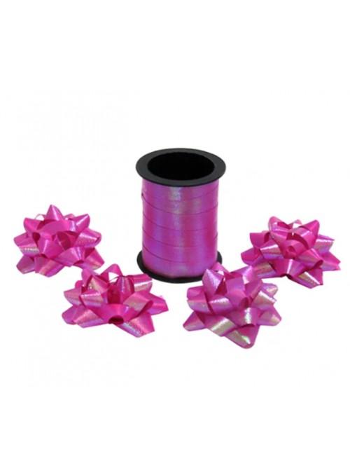 Fitilho Decorativo Rosa Pink Brilhante com 4 Laços