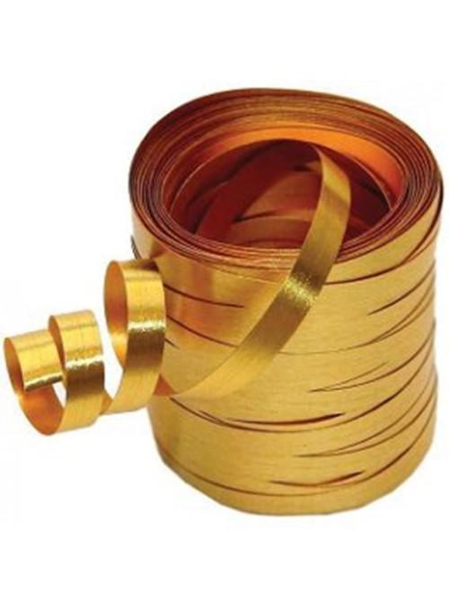 Fitilho Decorativo Metalizado Dourado