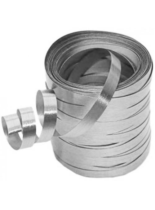 Fitilho Decorativo Metalizado Prata