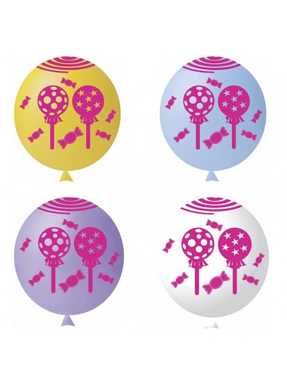 Balões de Látex Doces Sortidos – 25 unidades