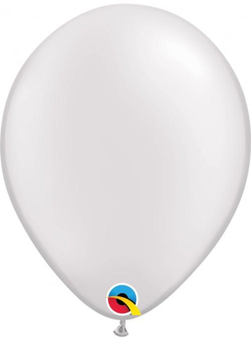 Balões de Látex Branco Candy Colors – 5 unidades