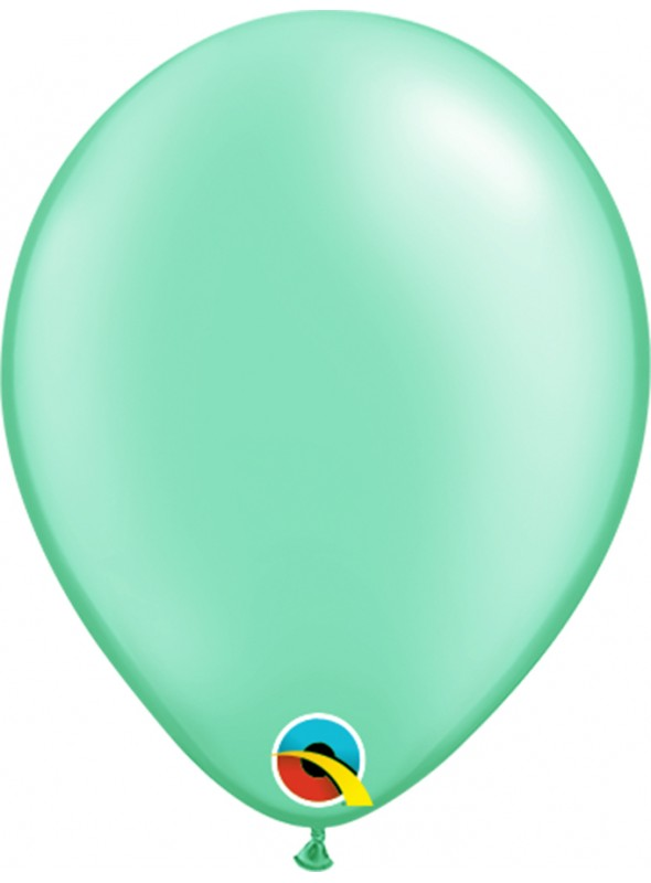 Balões de Látex Verde Menta Candy Colors – 5 unidades