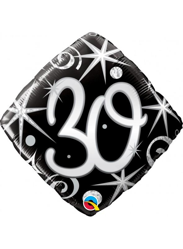 Balão Metalizado Aniversário 30 Anos Faíscas – 1 unidade