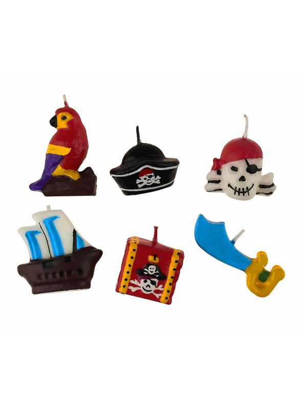 Velas de Bolo Aniversário Pirata – 5 unidades