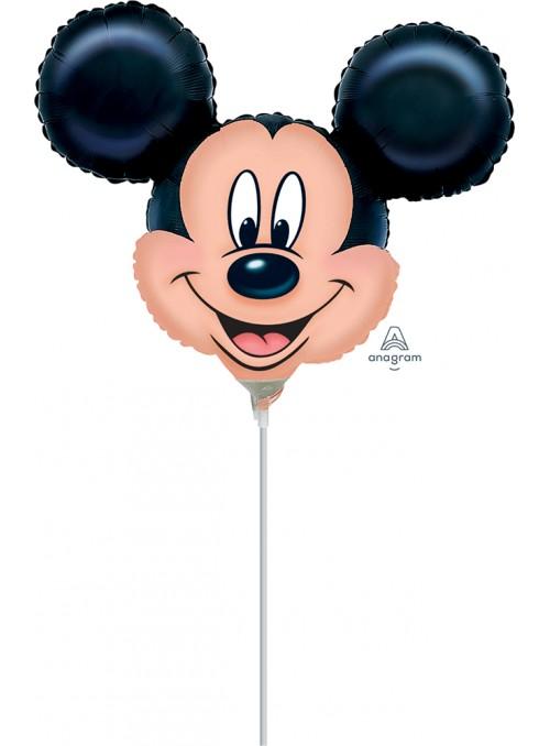 Balão Metalizado Cabeça do Mickey Tamanho P – 1 unidade