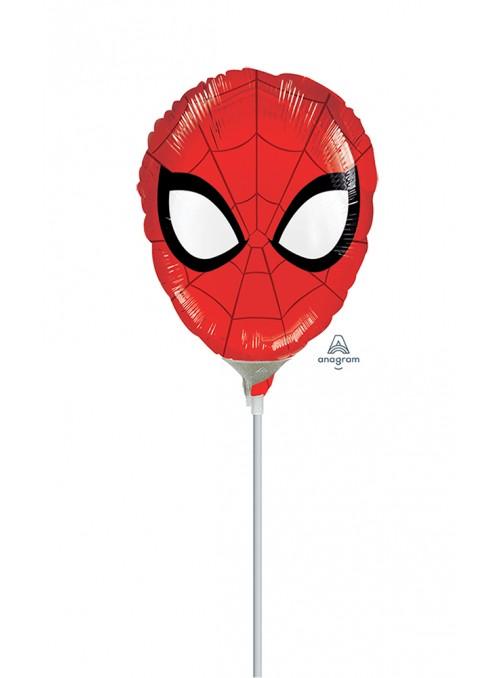 Balão Metalizado Cabeça Homem Aranha Tamanho P – 1 unidade