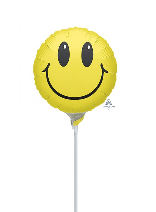 Balão Metalizado Carinha Smile Tamanho P – 1 unidade