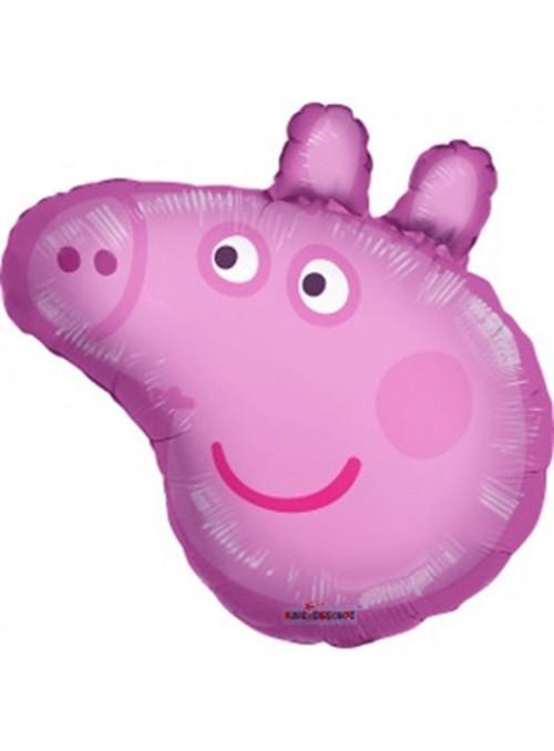 Balão Metalizado Rosto Peppa Pig Tamanho P – 1 unidade