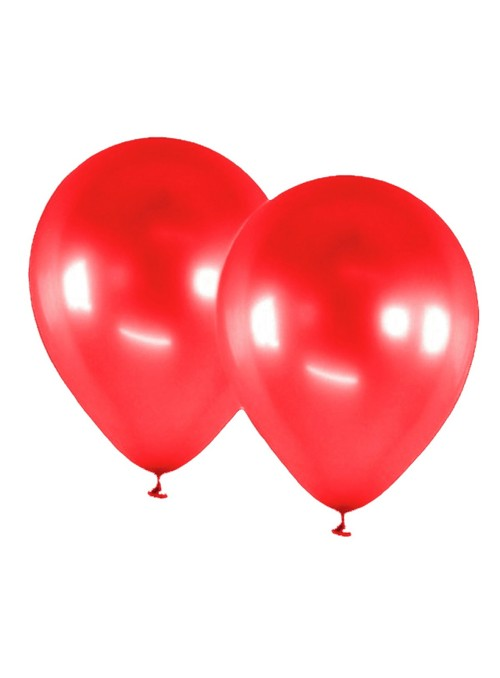 Balões de Látex Alumínio Vermelho 9 Polegadas – 25 unidades