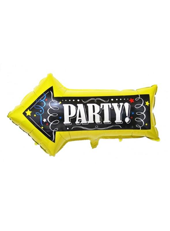 Balão Metalizado Placa Festa – 1 unidade