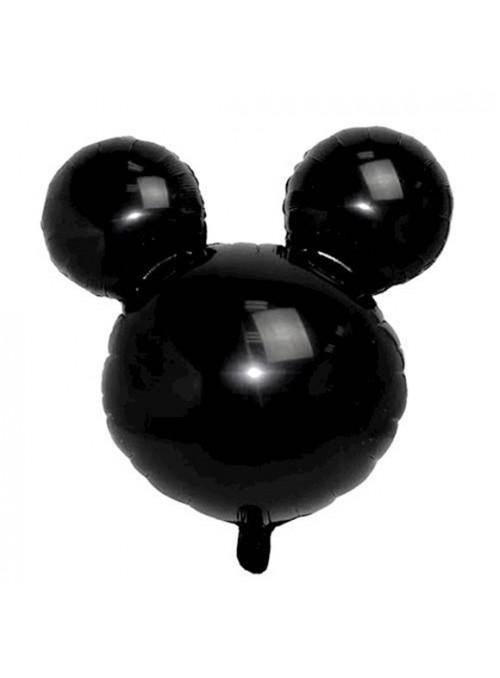 Balão Metalizado Cabeça Mickey ou Minnie Preto Tamanho P – 1 unidade