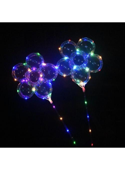Balão de Led Flor na Vareta – 1 unidade