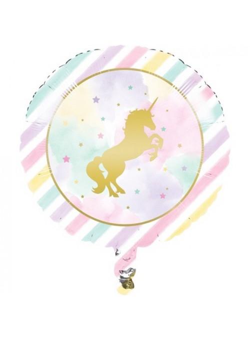 Balão Metalizado Unicórnio Candy Colors – 1 unidade