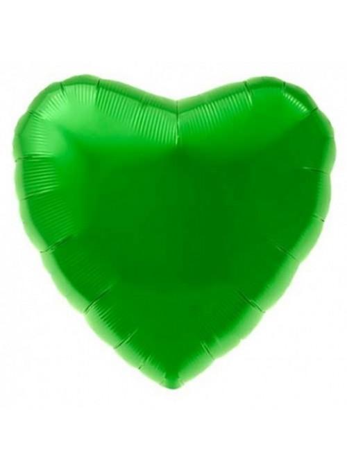 Balão Metalizado Coração Verde Claro – 1 unidade