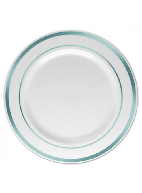 Pratos Refeição Descartáveis Luxo Prata – 6 unidades
