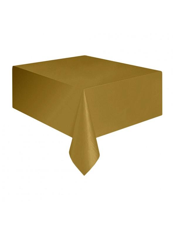 Toalha de Mesa Descartável de Luxo Dourada – 1 unidade