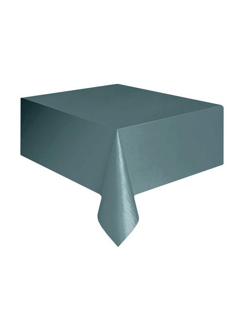 Toalha de Mesa Descartável de Luxo Prata – 1 unidade