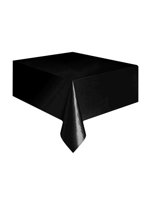 Toalha de Mesa Descartável de Luxo Preto – 1 unidade