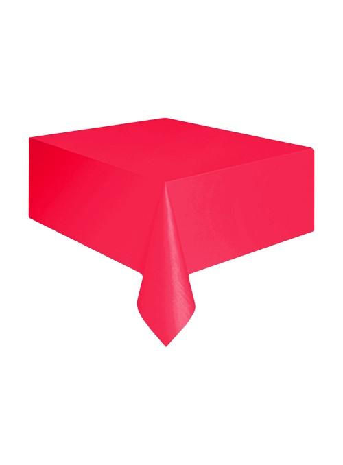 Toalha de Mesa Descartável de Luxo Vermelho – 1 unidade