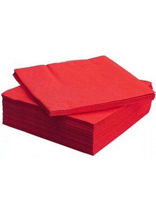 Guardanapos de Papel Luxo Vermelho – 20 unidades