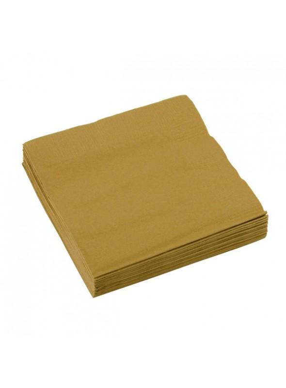 Guardanapos de Papel Luxo Dourado – 20 unidades