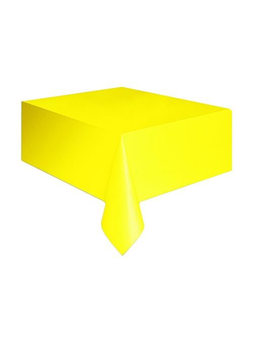 Toalha de Mesa Descartável de Luxo Amarela – 1 unidade