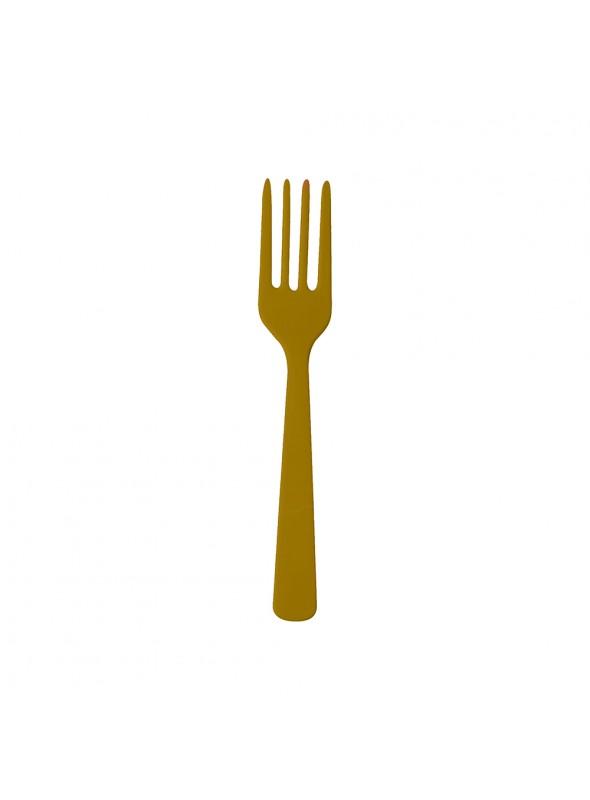 Garfos Refeição 2 Descartáveis Luxo Dourado – 10 unidades