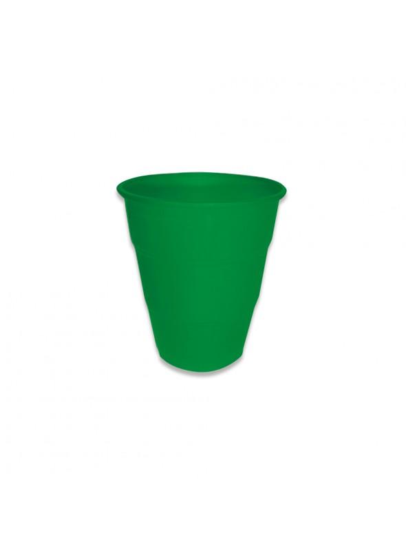 Copos Descartáveis de Luxo 210ml Verde – 10 unidades