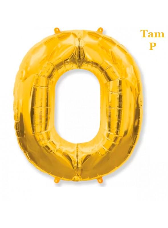 Balões Metalizados Dourado Números Tamanho P