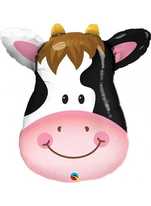 Balão Metalizado Qualatex Animal Vaca – 1 unidade