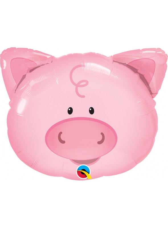 Balão Metalizado Qualatex Animal Porco – 1 unidade