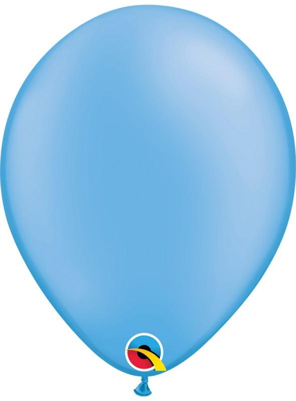 Balões de Látex Qualatex Néon Azul – 5 unidades