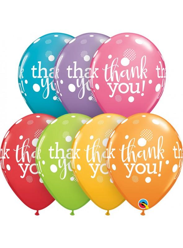 Balões de Látex Qualatex Agradecimento Obrigado – 10 unidades