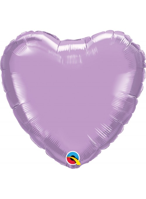 Balão Metalizado Qualatex Candy Colors Coração Lilás – 1 unidade