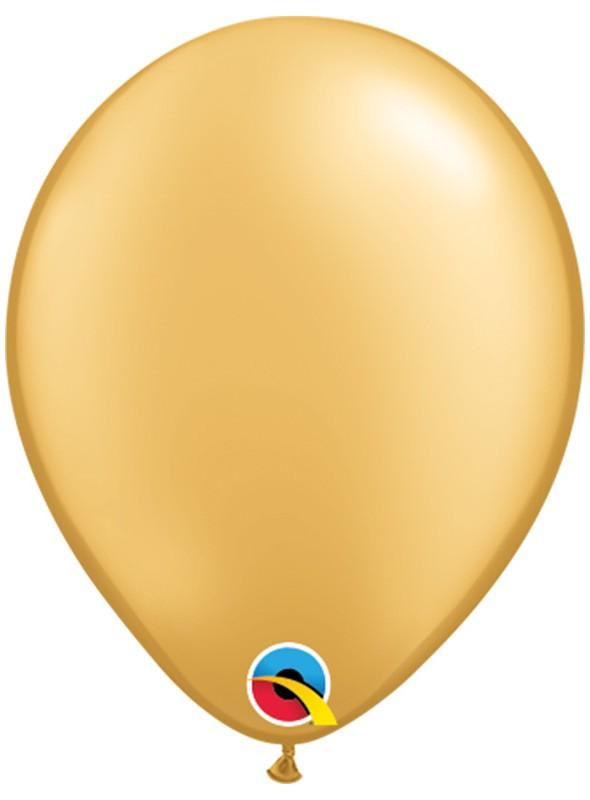 Balões de Látex Qualatex Dourado 5 Polegadas – 10 unidades