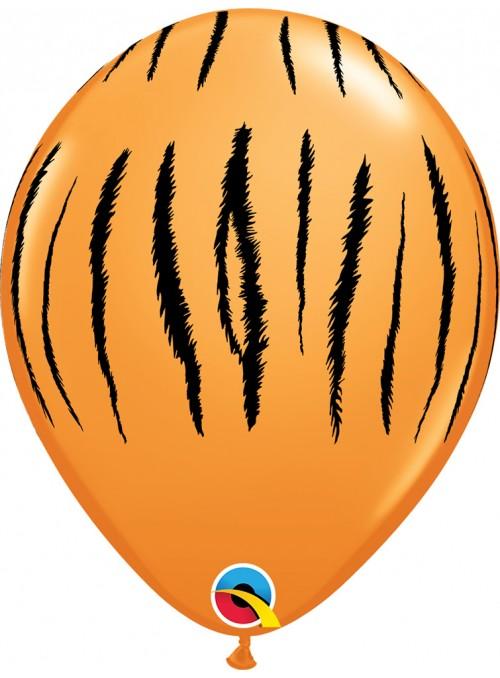 Balões de Látex Qualatex Safari Tigre – 5 unidades