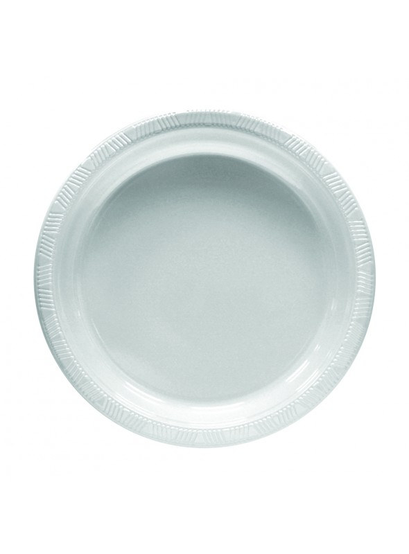 Pratos Descartáveis de Luxo Branco – 10 unidades