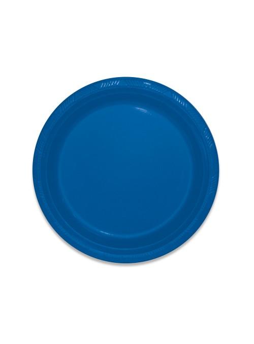 Pratos Descartáveis de Luxo Azul Escuro – 10 unidades