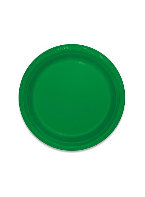 Pratos Descartáveis de Luxo Verde – 10 unidades